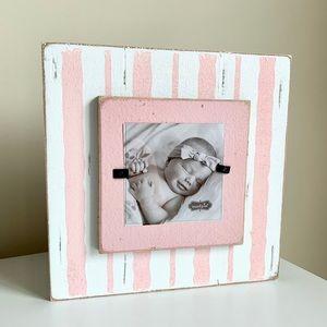 Mud Pie Layered Stripe Pink Frame